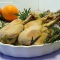 Fusi di pollo agli agrumi e rosmarino