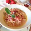 Orzo in rosa con ravanelli e prosciutto cotto - orizzontale