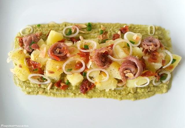 insalata-patate-crema-piselli-alici