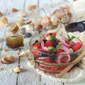Feta salad con anguria olive nere e menta - orizzontale