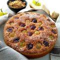Torta di pangrattato con muesli e uva FB