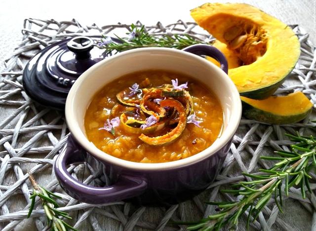Zuppetta di zucca e lenticchie rosse - ricetta light veloce