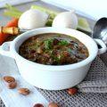 Zuppa cremosa di legumi al vino rosso zoom