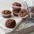 Muffin vegani integrali barbabietola e cioccolato