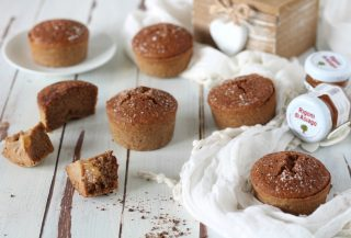Muffin solo albumi al cacao e pera - Rigoni