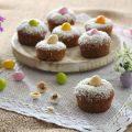 Vegan muffin pasquali cocco e cacao - orizzontale