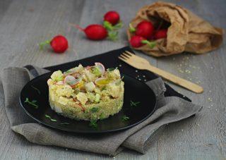 Quinoa con tofu ravanelli e timo limonato - orizzontale