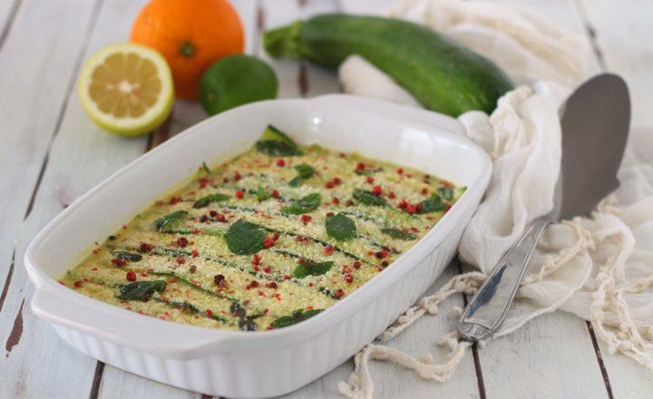 Lasagna di zucchine senza pasta e senza cottura