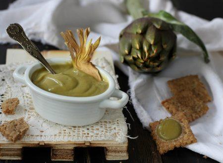 Crema di carciofo – come riciclare foglie e gambi
