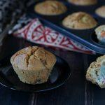 Muffin veg alla farina di ceci e verdure colorate