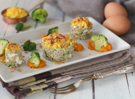 Uovo saraceno ai broccoli con zucca cremosa