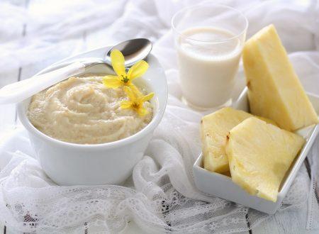 Crema di ananas senza grassi pronta in 10 minuti