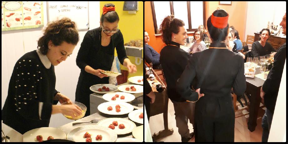 Fabiana Scarica e Cinzia Fumagalli preparazione piatti