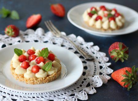 Dessert fragole e ananas veloce e leggero