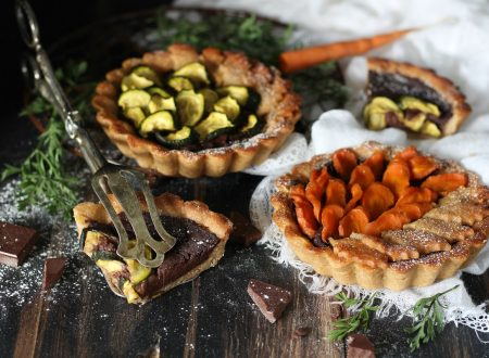Crostatine vegan al cioccolato e verdura dolce
