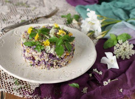 Insalata di grano saraceno e ricotta
