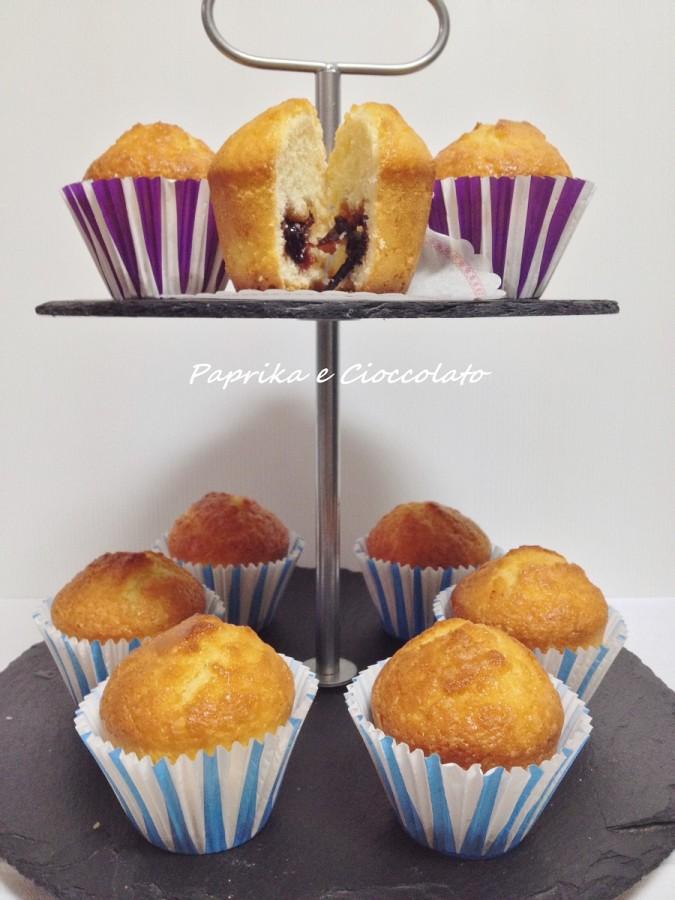 Muffin al cuore di mirtilli