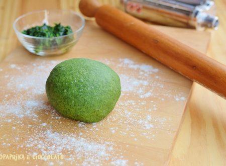 Pasta verde con Spinaci