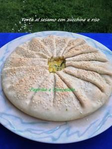Torta al Sesamo con Riso e Zucchine