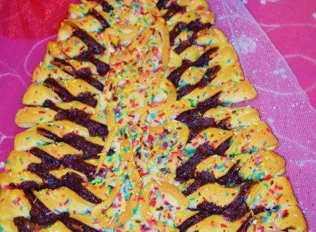 Albero di pan brioche al cioccolato