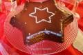Torta stella con copertura fondente
