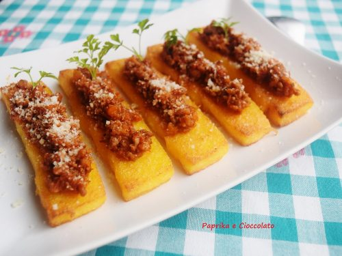Polentine con Salsiccia