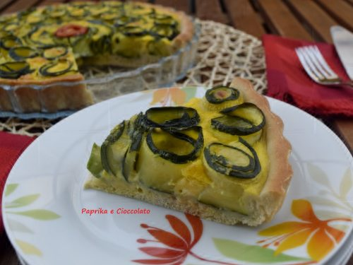 Crostata con rose di Zucchine