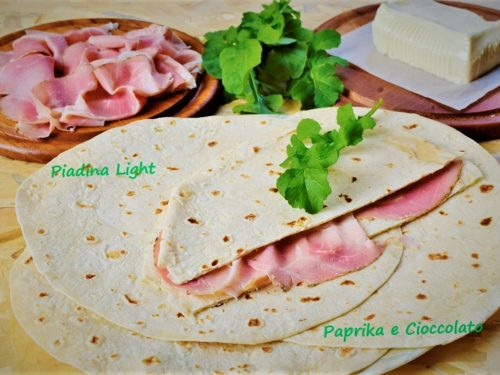 Piadina light senza grassi