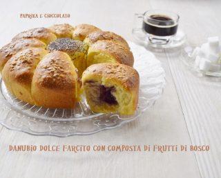 Danubio dolce con confettura di frutti di Bosco