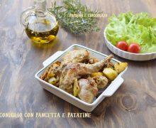 Coniglio con Pancetta e Patatine