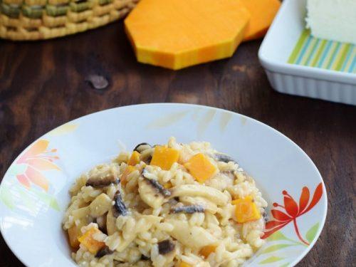 Risotto con Zucca Funghi e Quartirolo