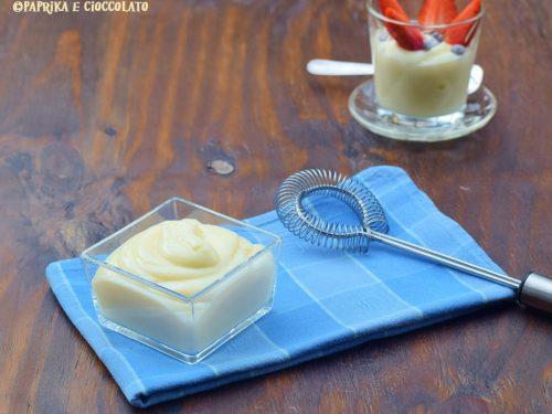 Crema alla vaniglia senza uova
