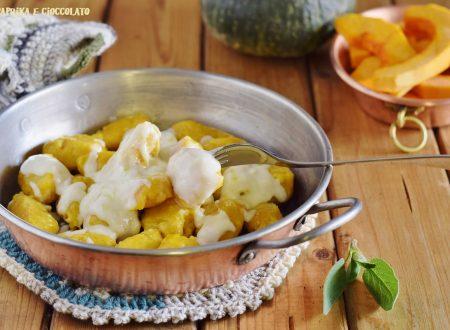 Quenelle di zucca con fonduta di formaggio