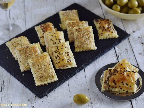 Stuzzichini con prosciutto cotto e formaggio