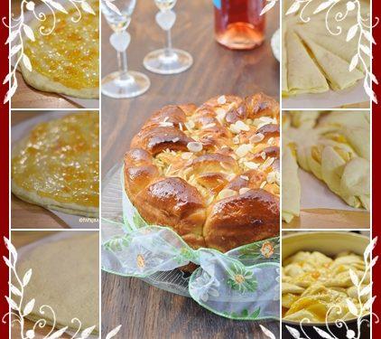 Torta intrecciata ripienacon confettura di albicocche