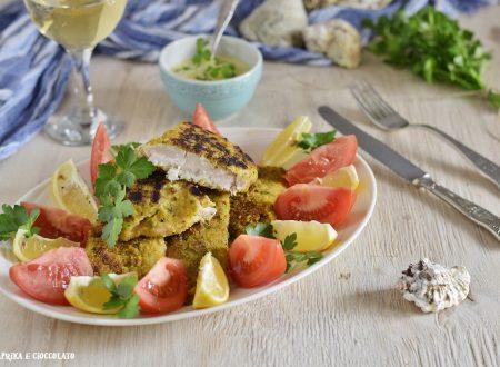 Filetto di persico gratinato in padella