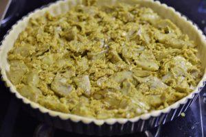 Torta rustica con ripieno di carciofi