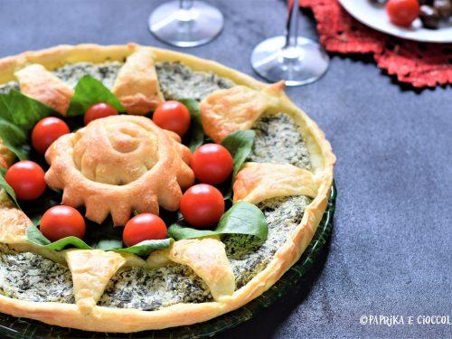 Corona di sfoglia con ricotta e spinaci