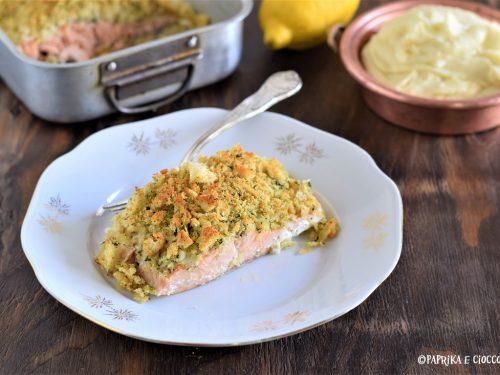 Salmone al forno con panatura aromatica