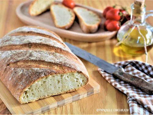 Pane senza impasto con semola