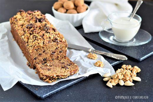Banana bread con cioccolato e noci