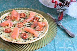 Torta rustica con zucchine e salmone