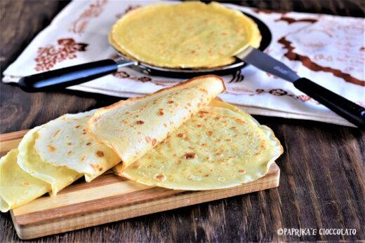 Crepes ricetta base neutra
