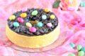 Angel cake con nidi di cioccolato