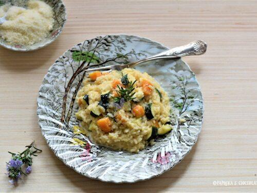 Risotto di zucca e zucchine al rosmarino