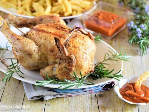 Pollo arrosto nella friggitrice ad aria