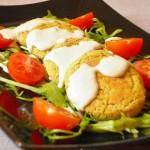 falafel al forno con salsa al limone