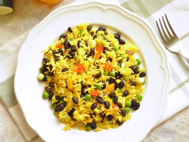 Molto Riso speziato con verdure e fagioli neri | Limone e Vaniglia TI69