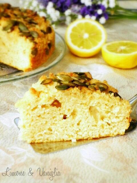 torta al limone con semi di zucca