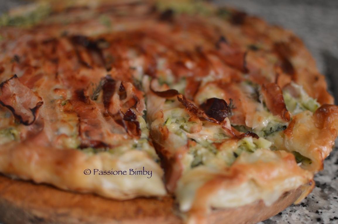 TORTA SALATA ZUCCHINE E BACON BIMBY